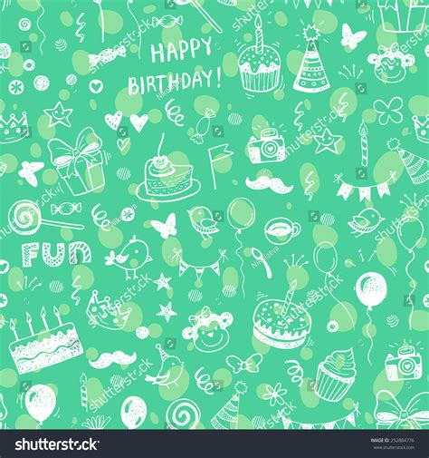 happy birthday seamless background pattern in