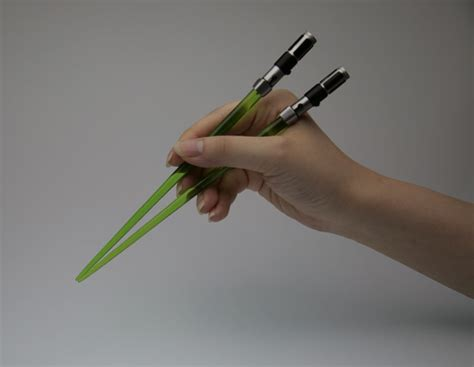 Light Saber Chopsticks by Lightsaber Chopsticks Because You Need Them Geektyrant
