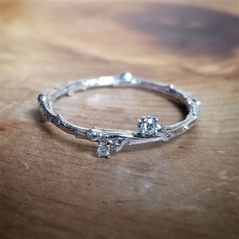 white gold ring promise ring for her simple promise ring