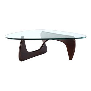 46 off glass top with wood base coffee table tables. Triangle Coffee Table Modern Glass Top With Wood Base - Midcentury - Coffee Tables - by Modern ...
