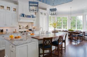 Larsen Cabinets by Traditional White And Blue Kitchen Traditional Kitchen