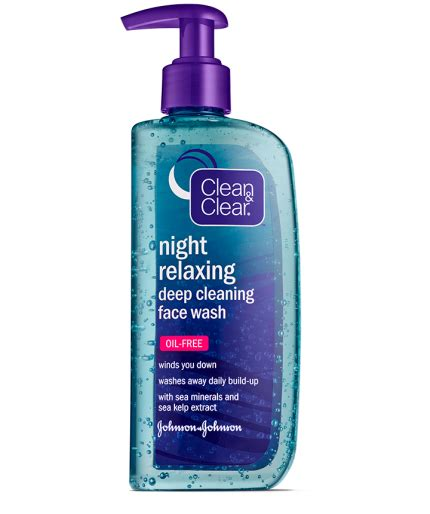 clean clear night relaxing deep cleaning oil  face wash clean clear