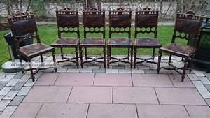 Antike Stühle Gebraucht : 6 antike st hle im henry ii stil mit pr ge leder ~ Indierocktalk.com Haus und Dekorationen