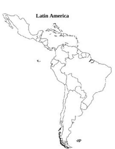 latin america map activity students