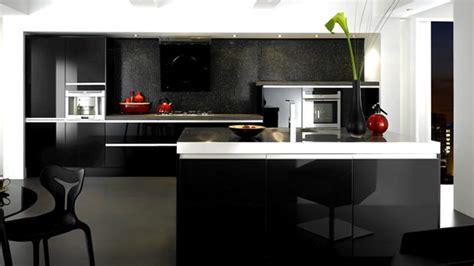 black gloss kitchen ideas 15 black and gray high gloss kitchen designs home design