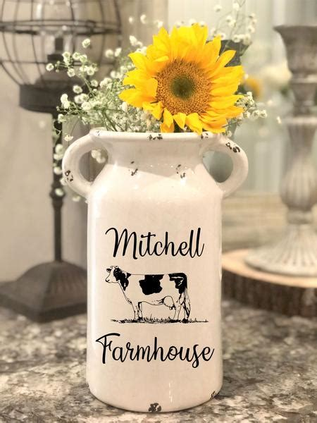farmhouse milk jug personalized milk  farmhouse milk