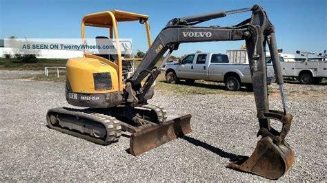 volvo ecr open cab smallcompact excavator trackhoe