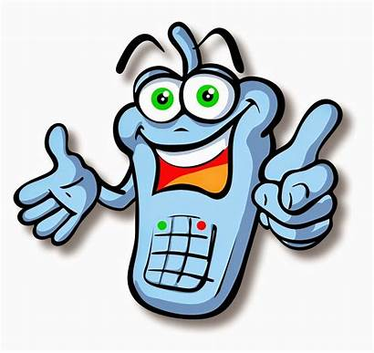 Cell Cartoon Phones Clipart Phone Clip Zoom