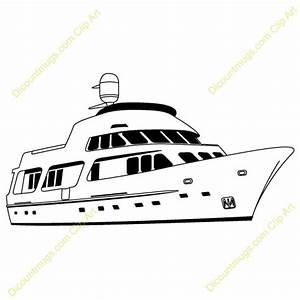 Luxury Yacht Clipart