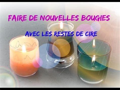 comment faire des bougies avec les restes de cire bougie 3 couleurs