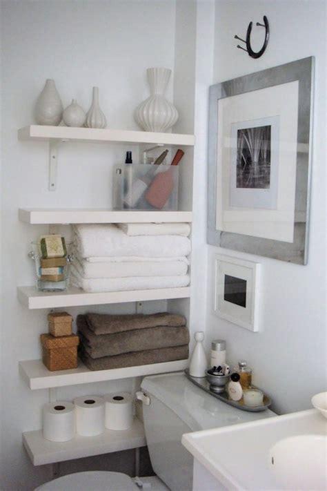 Small Bathroom Storage Shelves by 33 Clever Stylish Bathroom Storage Ideas