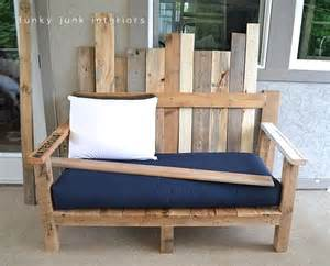Wood Pallet Sofa by How I Built The Pallet Wood Sofa Part 2 Funky Junk Interiors