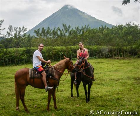 waterfall fortuna horses riding horseback couple arenal journey three ride volcano cruising horse