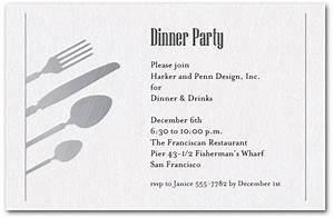 Silver Utensils on Shimmery White Invitations