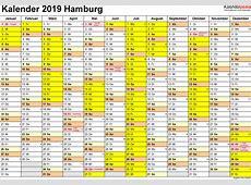 Kalender 2019 Hamburg Ausdrucken, Ferien, Feiertage