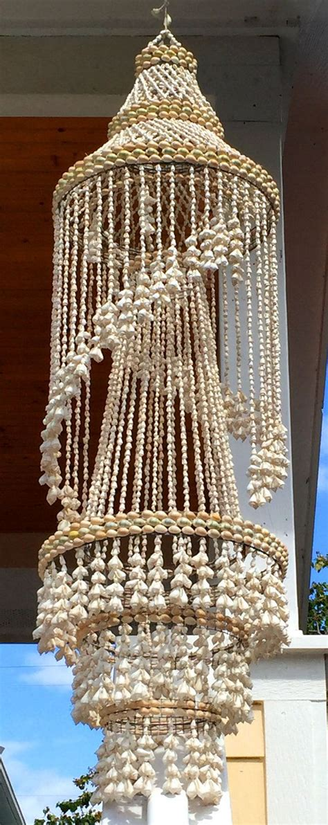 Shell Chandelier Wholesale by Vintage Seashell Sea Shell Chandelier Mobile Tiki Decor