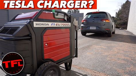 electric generator charging charge lane