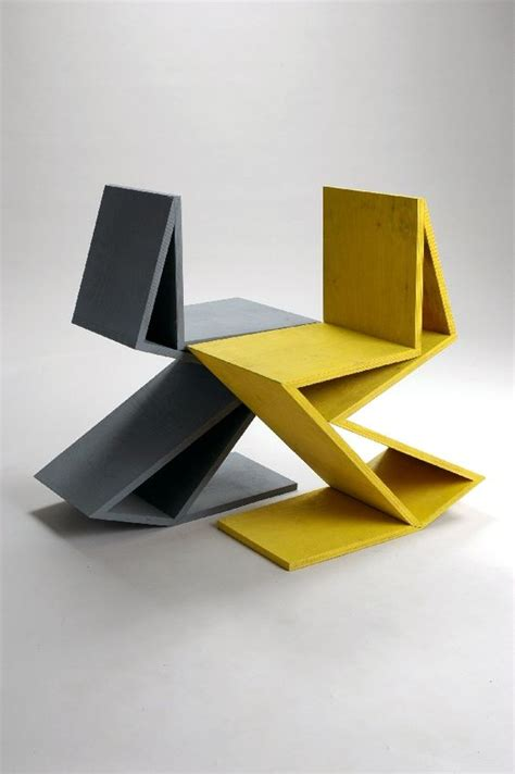 chaise zig zag remix gerrit rietveld chair quot zig zag quot by kateryna sokolova