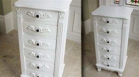 commodes classique chic commode et chiffonnier other chiffonnier style anglais à 6 tiroirs patine blanche