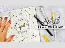 April 2018 Bullet Journal Ideas Calendar 2018 Printable