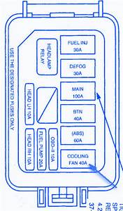 Ford Escort Zx2 2006 Relay Fuse Box  Block Circuit Breaker Diagram