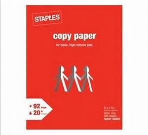 amazoncom staples copy paper letter size 92 bright With staples letter paper