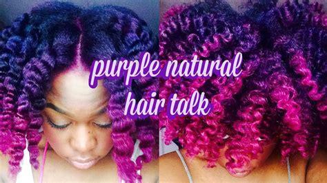 Natural Hair Purple Hair Info Youtube