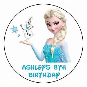 """FROZEN ELSA Birthday Personalized 2.5"""" Round Labels Favors ..."""