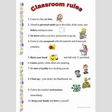 33 Free Esl Classroom Rules Worksheets