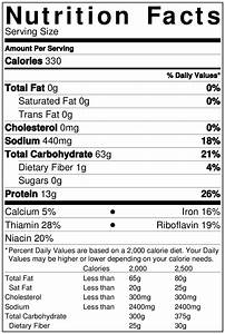 Nutrition Facts - Bagel Grove