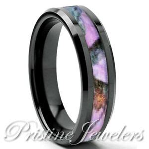 6mm black real oak pink hunting tree camo ring womens mossy forest wedding band ebay