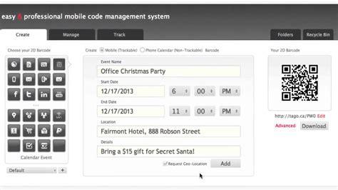 calendar event qr code generator tago youtube