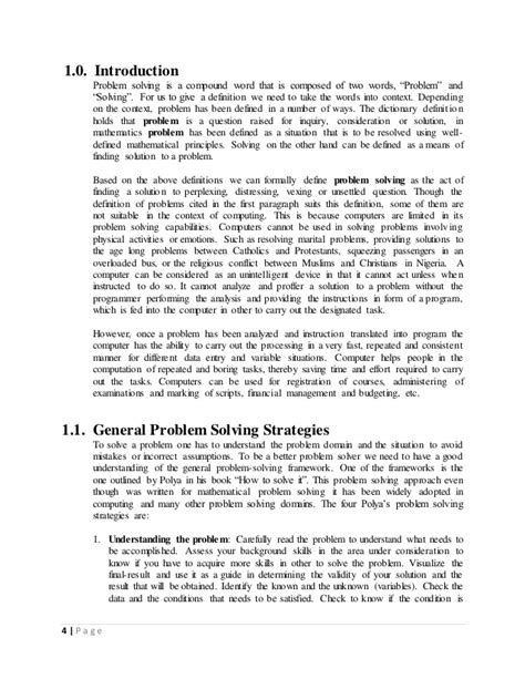 Csc 102 lecture note(introduction to problem solving)