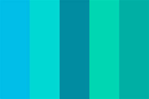 blue and green color schemes between blue and green color palette