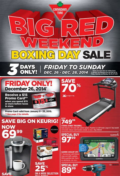 Canadian Tire Boxing Week Boxing Day Flyer