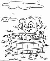 Dog Coloring Puppy Printable Dogs Animal Animals Bucket Bath Prairie Pup Taking Colouring Sheets Colour Raisingourkids Printing Tub Printables Prints sketch template