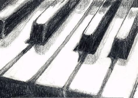 Piano Keyboard Art Print Of Graphite By Saylorwolfwatercolor