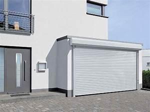 portes enroulantes rollmatic afc besancon With porte de garage enroulable avec porte intérieure seule