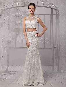 top lace mermaid amazing styles wedding dress wedding With illusion top wedding dress