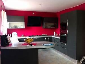 beau cuisine moderne rouge et blanc 1 la cuisine noire With cuisine moderne rouge et blanc