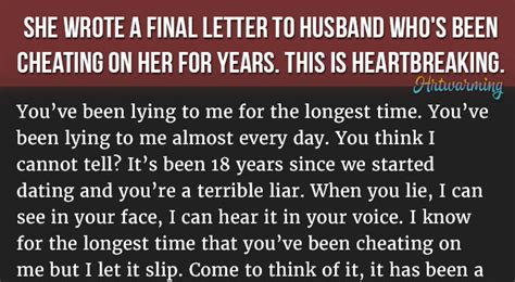 letter to my cheating husband she wrote a letter to husband who s been on 23227 | 346