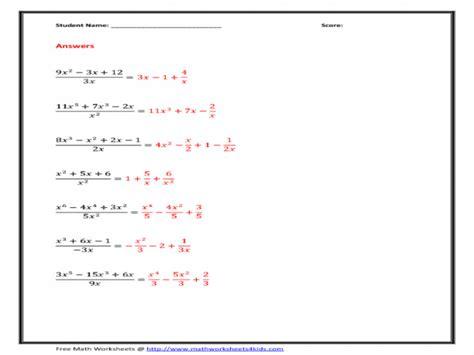 polynomials worksheet homeschooldressagecom
