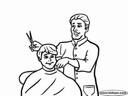 Barber Coloring Pages Colouring Barbers Sketch Template