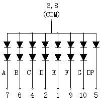 high brightness single digit  segment led displays digit led numeric display