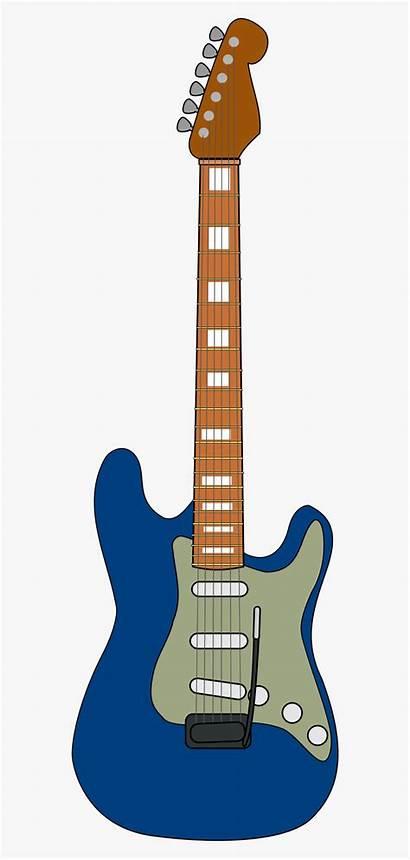 Guitar Electric Clipart Clip Wooden Cartoon Transparent