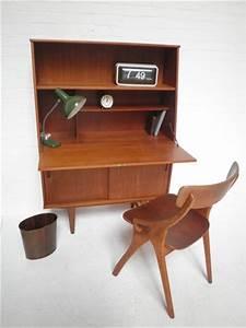 Bureau Secretaire Vintage : secretaire vintage design teakhout bestwelhip ~ Teatrodelosmanantiales.com Idées de Décoration