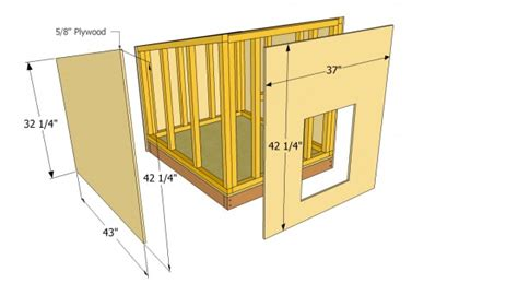 large dog house plans myoutdoorplans  woodworking
