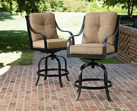 Lazboy Outdoor Charlotte 2pk Patio Bar Stools Outdoor