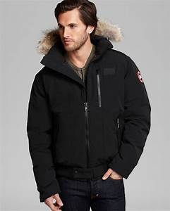 Lyst Canada Goose Borden Bomber Parka With Fur Hood In Black For Men