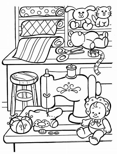 Coloring Toys Pages Toy Christmas Workshop Printing